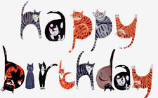 Cute Cat Birthday Wrapping paper + Matching Gift Tags BRAND NEW