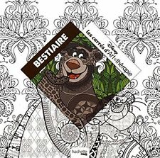 Disney Animals French Adult Colouring Book Jungle Princess Walt Magical Fairy