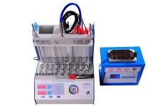 Auto gasoline 6 jars fuel Injector tester and ultrasonic Cleaner with heat A360