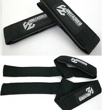 UNLEASHED WEIGHT LIFTING STRAPS. GYM WEIGHTLIFTING BODYBUILDING WRIST WRAPS