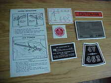 1966-1967 Lincoln Continental Car Decals Set