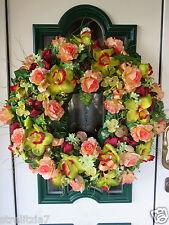 16-34. XXXXL 65cm edler Türkranz Tischkranz  Tür Wanddeko Blumen Dekoration ♥