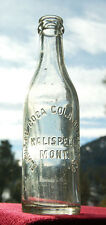 Antique KALISPELL MONTANA straight sided Coke bottle FLATHEAD COCA COLA Company