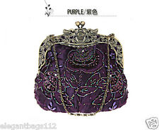 Brand New Antique Floral Handmade Beaded Bag/Purse For Evening, Wedding and Prom