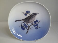 Charming Royal Copenhagen Turdus Iliacus Redwing Bird Hanging Wall Plate
