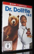 DVD DR. DOLITTLE - TEIL 1 + 2 - EDDIE MURPHY - TOP FAMILIEN-KOMÖDIE *** NEU ***