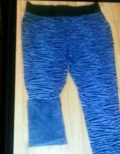 PLUS SIZE ZEBRA PRINT FAUX FUR LINED STRETCH SWEAT PANTS/LEGGING-SIZES-16 TO 26