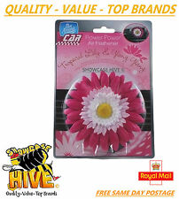 PAN AROMA FLOWER POWER CAR AIR FRESHENER TROPICAL LILY & YLANG FRAGRANCE NEW