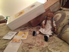 "1998 Annette Himstedt Lonneke DOLL, Certificate Box 24"" Tall FREE EXPEDITED SHIP"