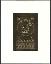 Ras al Khaima Apollo 11/Eagle/Space/Moon Landing  GOLD m/s  (b7564)