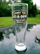 LARRY THE GIT-R-DONE CABLE GUY  BEER GLASS 8.5 INCHES TALL