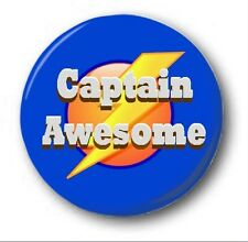 "CAPTAIN AWESOME  - 25mm 1"" Button Badge - Cute Novelty"