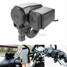 Waterproof Motorcycle 12V/5V USB GPS Cell phone Power Socket Cigarette Lighter