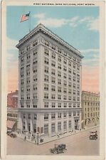 Texas Tx Postcard c1910 FORT WORTH First National Bank Building
