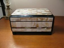 Art Deco Mother of Pearl Jewellery Box Musical Working
