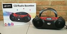 GPX Radio/CD Player Boombox BC232R Aux Input