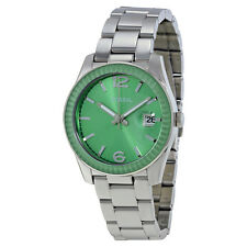 Fossil Perfect Boyfriend Green Dial Stainless Steel Ladies Watch ES3731
