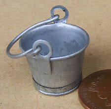 1:12 Scale Small Metal Bucket Pail Dolls House Miniature Garden Accessory SA