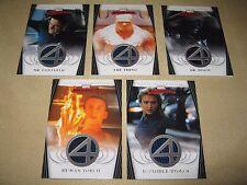 2008 MARVEL MASTERPIECES (Series 2) Fantastic Four Costume FULL SET #FF1,2,3,4,5