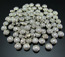 FREE 100PCS Crafts Tibetan silver Totems Pendant Rondelle Findings Spacer beads