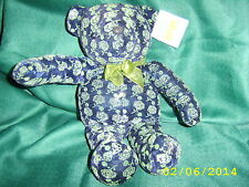 "GOOD STUFF Blue Green Silver SPARKLE TEDDY BEAR 16"" VGC"