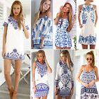 Vintage Women's Sexy Party Cocktail Summer Dress Casual Shorts Jumpsuit Rompers