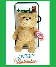 TED 6 INCH TALKING PLUSH TEDDY BEAR BACKPACK CLIP MOVIE Christmas Gift