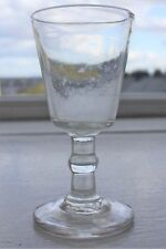 Late Georgian Dram Gin Glass with Round Funnel Bowl & Ball Knop Stem 4 inches