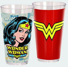 DC Heroes Set of 2 20oz Acrylic Drinking Glasses/Cups - Wonder Woman