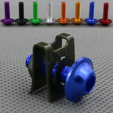 1pcs M6 Motorbike Fairings Bolts Kits Spring Nuts for KTM Blue