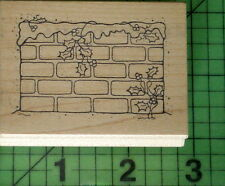 Winter Bricks E296 rubber stamp by Great Impressions Holiday Christmas