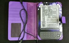 Amazon Kindle Model #D00901 (3rd Generation) w/ Many titles, Case & Charger