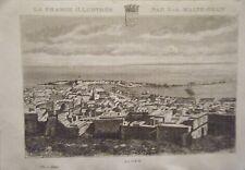 GRAVURE SUR BOIS 19ème LA FRANCE ILLUSTREE DE  MALTE BRUN  ALGER ALGERIE