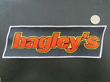 Large Vintage Mint BAGLEY Lures Shirtback Patch - 10 x 3 inches