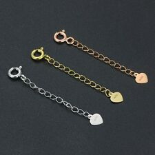 Pure Solid 18K Yellow Gold 3cmL Extended Chain For Necklace & Bracelet Good Luck