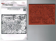 POSTCARD HEARTFELT CREATIONS Rubber Stamps - Sweet Juliet. FLORAL/SENTIMENTS