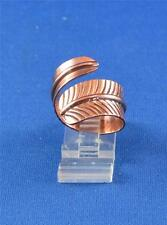 NATIVE AMERICAN NAVAJO INDIAN JEWELRY COPPER ADJUSTABLE FEATHER RING  D. ETSITTY