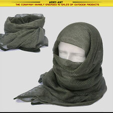 Olive Drab Tactical Cotton Mesh Scarf Wrap Face Cover Mask Shemagh Sniper Veil