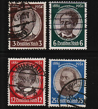 1934 Germany Lost Colonies Set Sc#432-435 Used Sound 13270