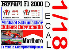 ANEXO DECAL 1/18 FERRARI F1 2000 MICHAEL SCHUMACHER – RUBENS BARRICHELLO (03)