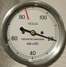 DUCATI BEVEL SINGLE 250, 350, 450 TACHOMETER VEGLIA MADE IN SPAIN CONTAGIRI