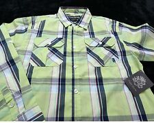 NWT NEW ENGLISH LAUNDRY Boy's Long Sleeve Button Up SHIRT Size 14/16 Plaid
