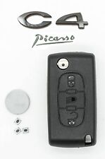 Fits CITROEN C4 PICASSO 3 Button Remote flip key FOB Repair Refurbishment Kit