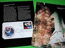 STS-8 1983 OFFICIAL NASA COVER & FOLDER, FLOWN ON THE CHALLENGER SHUTTLE, #1909