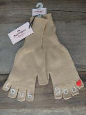 $28 Juicy Couture LOVE YOU Fingerless Knit Glove Desert Bluff One Size NWT #1