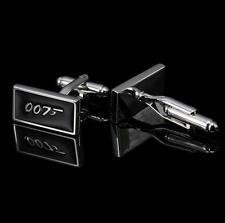 Fancy Luxury Agent 007 James Bond Men's Wedding Shirt Suit Cufflinks Gift SS08
