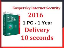 KASPERSKY Internet Security 2016 1pc / 1YEAR | download | Ottieni codice 10 secondi