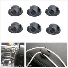 6x Cable Clips Charger Cables/Power Cords Holder Fastens Tidy Organizer Car/Home