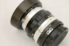 early  Nikon Nikkor-S Auto 35mm f 2,8 second version silver finish  for Nikon F