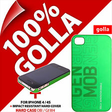 Golla Hard Case Protective Back Cover Matte Green for Apple iPhone 4 / 4S